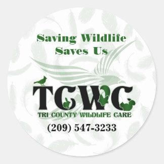 Adesivo Redondo TCWC - Os animais selvagens da economia do