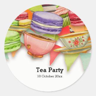 Adesivo Redondo Tea party