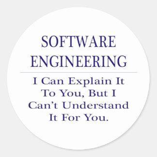 Adesivo Redondo Tecnologia de programação. Explique para não