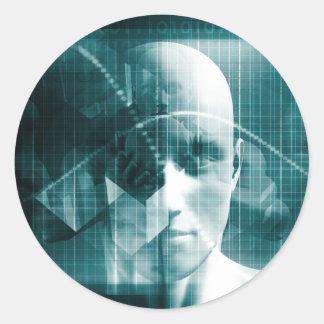 Adesivo Redondo Tecnologia futurista da ciência médica como uma
