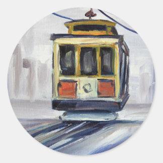 Adesivo Redondo Teleférico de San Francisco