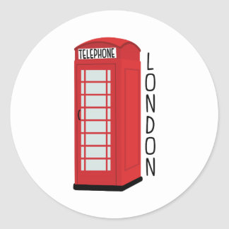 Adesivo Redondo Telefone de Londres