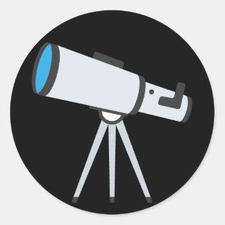 Adesivo Redondo Telescópio simples Emoji
