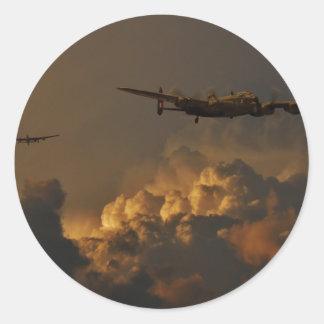 Adesivo Redondo TEMPESTADE do bombardeiro de Lancaster