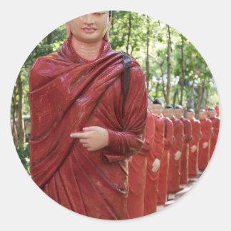 Adesivo Redondo Templo de Nellikulama de 500 Arahants, Sri Lanka