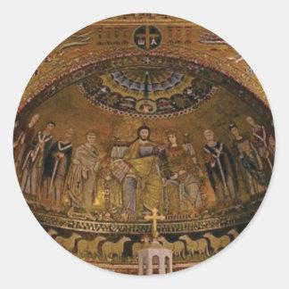 Adesivo Redondo Templo do arco da abóbada da igreja