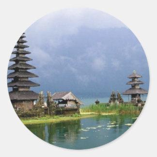 Adesivo Redondo templo Indonésia de bali
