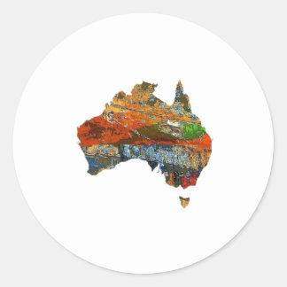 Adesivo Redondo Tempo australiano