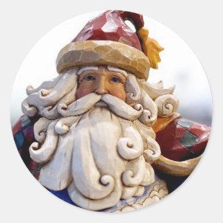 Adesivo Redondo Tempo do Natal do Natal de Papai Noel Nicholas