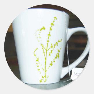 Adesivo Redondo Tenha um chá de O do copo!