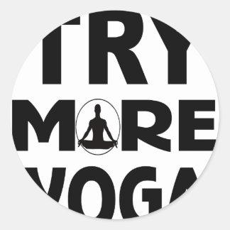 Adesivo Redondo Tente mais ioga