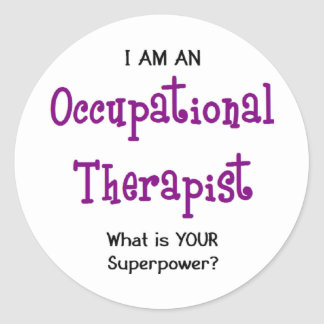 Adesivo Redondo terapeuta ocupacional