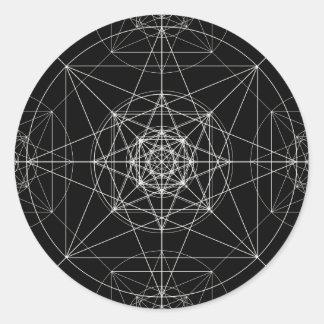 Adesivo Redondo Terceira geometria sagrado dimensional