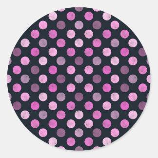 Adesivo Redondo Teste padrão de pontos bonito XVII