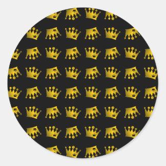 Adesivo Redondo Teste padrão dobro da coroa