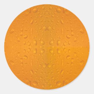 Adesivo Redondo Teste padrão macro 8868 do vidro de cerveja