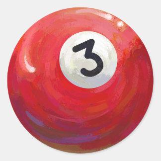 Adesivo Redondo Teste padrão pintado da bola de piscina 3
