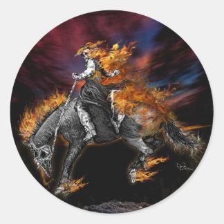 Adesivo Redondo Texas Ghost Rider