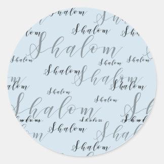 Adesivo Redondo Texto elegante Loopy de Shalom