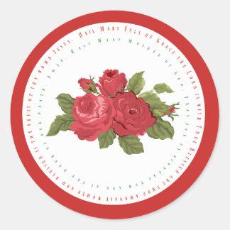 Adesivo Redondo Texto w/Roses de Mary da saraiva