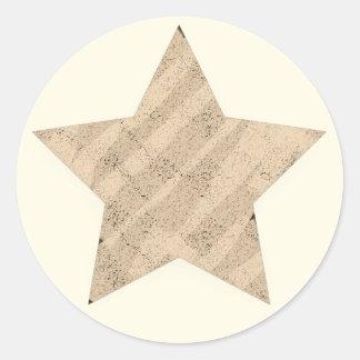 Adesivo Redondo Textura pintada estrela de 5 pontos