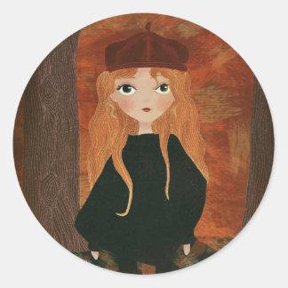 "Adesivo Redondo ""The Autumn Girl"" Sticker"
