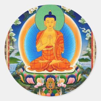 Adesivo Redondo Tibetano Thangka Prabhutaratna Buddha