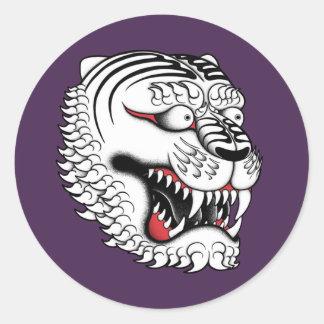 Adesivo Redondo tigre