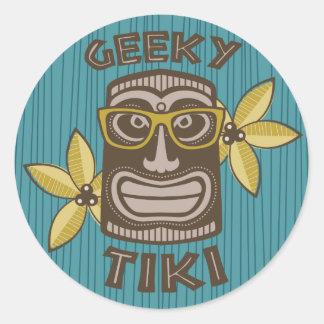 Adesivo Redondo Tiki Geeky