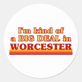 Adesivo Redondo Tipo de I´m de uma grande coisa em Worcester