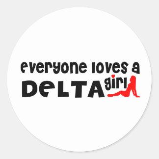Adesivo Redondo Todos ama uma menina do delta