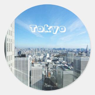 Adesivo Redondo Tokyo, Japão