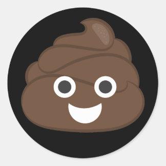 Adesivo Redondo Tombadilho parvo louco Emoji de Brown