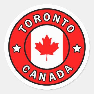 Adesivo Redondo Toronto Canadá