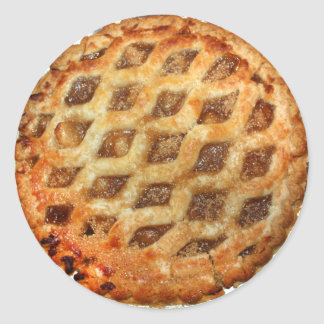 Adesivo Redondo Torta de Apple fresca quente