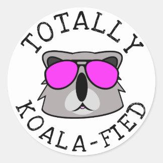 Adesivo Redondo Totalmente Koalafied