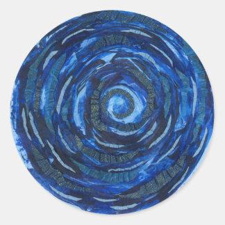 Adesivo Redondo trabalhos de arte #2 da espiral do índigo de