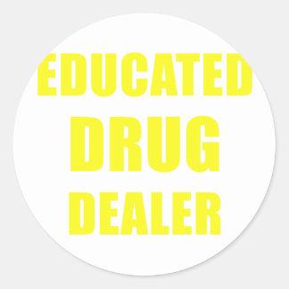 Adesivo Redondo Traficante de drogas educado
