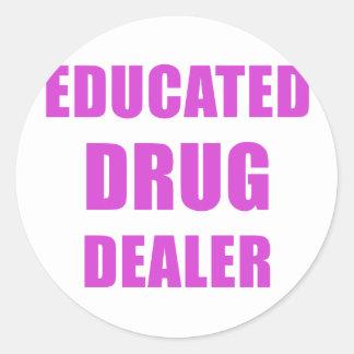 Adesivo Redondo Traficante de drogas educado (farmacêutico)