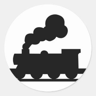 Adesivo Redondo Trem de estrada de ferro