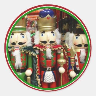 Adesivo Redondo Três biscoitos sábios - soldados do Nutcracker