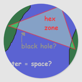 Adesivo Redondo Triângulo de Bermuda: a teoria