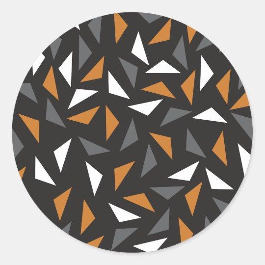 Adesivo Redondo Triângulos animados