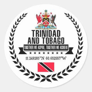 Adesivo Redondo Trinidad and Tobago