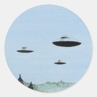 Adesivo Redondo Trio do UFO