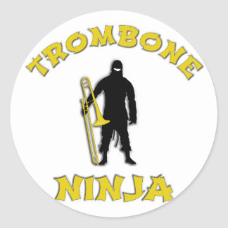 Adesivo Redondo Trombone Ninja