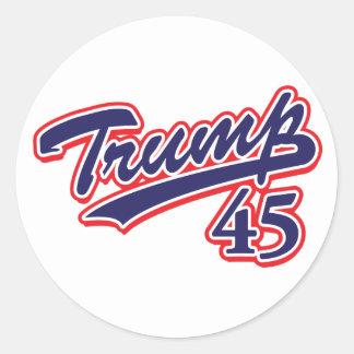Adesivo Redondo Trump-45-Blue