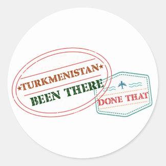 Adesivo Redondo Turkmenistan feito lá isso