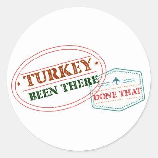 Adesivo Redondo Turquia feito lá isso
