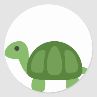 Adesivo Redondo Turtle Emoji